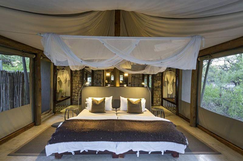 slaapkamer van Onguma Tented Camp - Onguma Tented Camp - Namibië - foto: Onguma Tented Camp