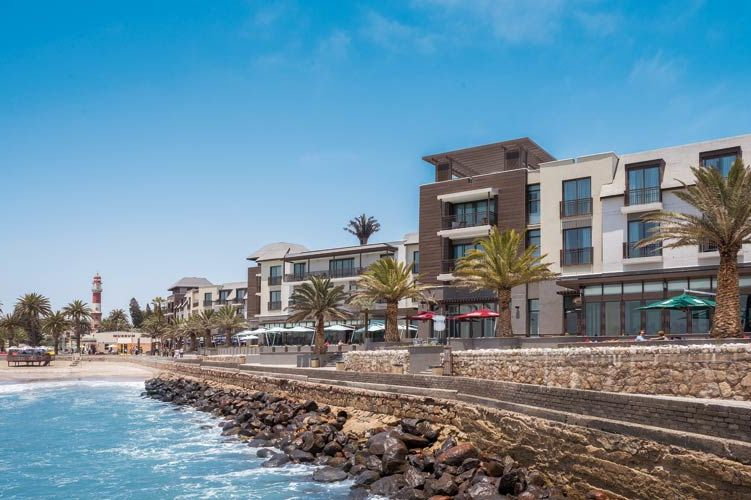 vooraanzicht van Strand Hotel - Strand Hotel - Namibië - foto: Strand Hotel