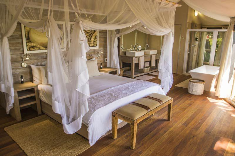 slaapkamer van Nambwa Tented Lodge - Nambwa Tented Lodge - Namibië - foto: Nambwa Tented Lodge