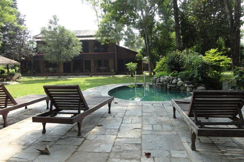 tuin/zwembad - Hotel Royal Park - Nepal