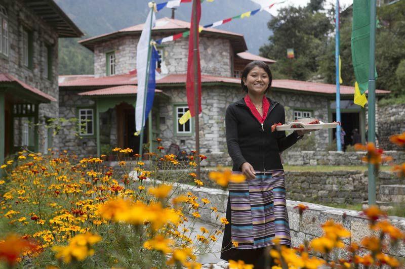 Phakding Yeti Mountain Home entree - Nepal - foto: Archief