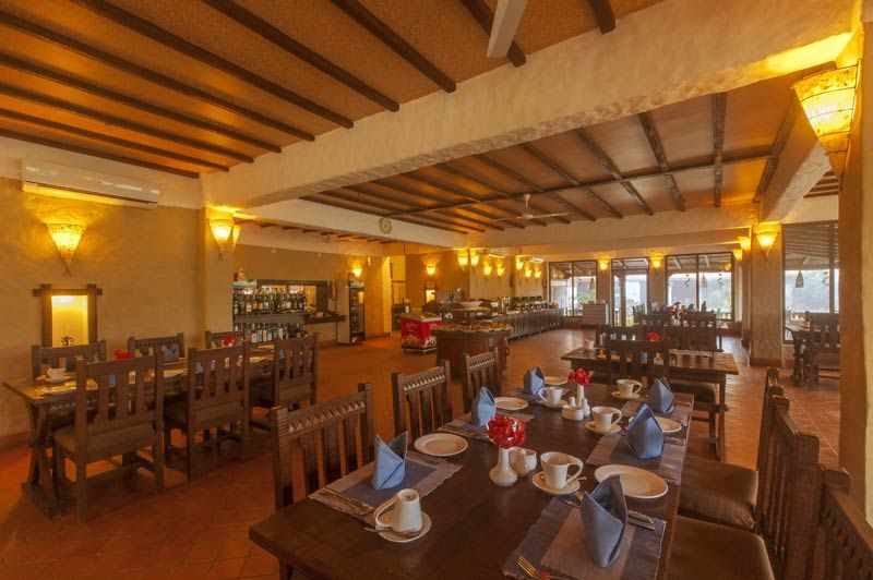 restaurant van Green Park Chitwan - Green Park Chitwan - Nepal - foto: Archief