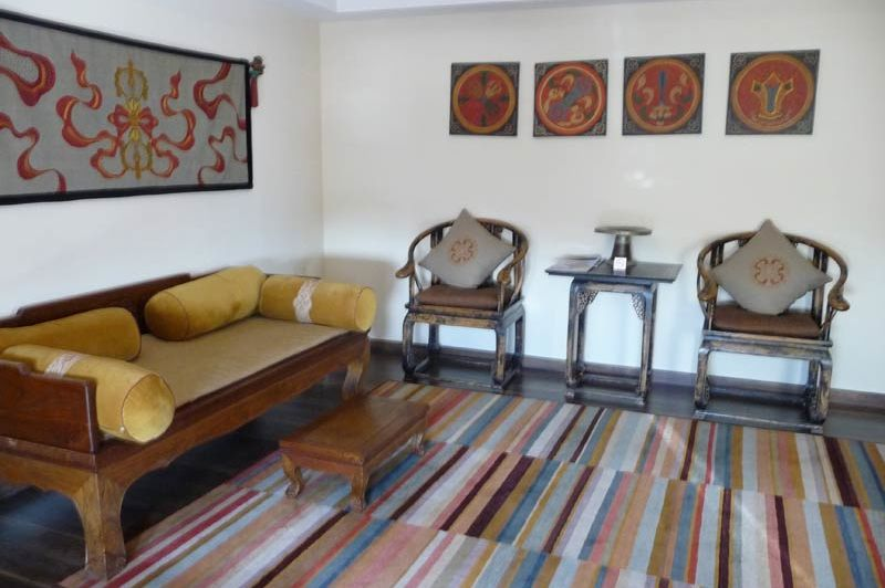 lobby hotel Shambala Kathmandu - Hotel Shambala - Nepal - foto: Floor Ebbers