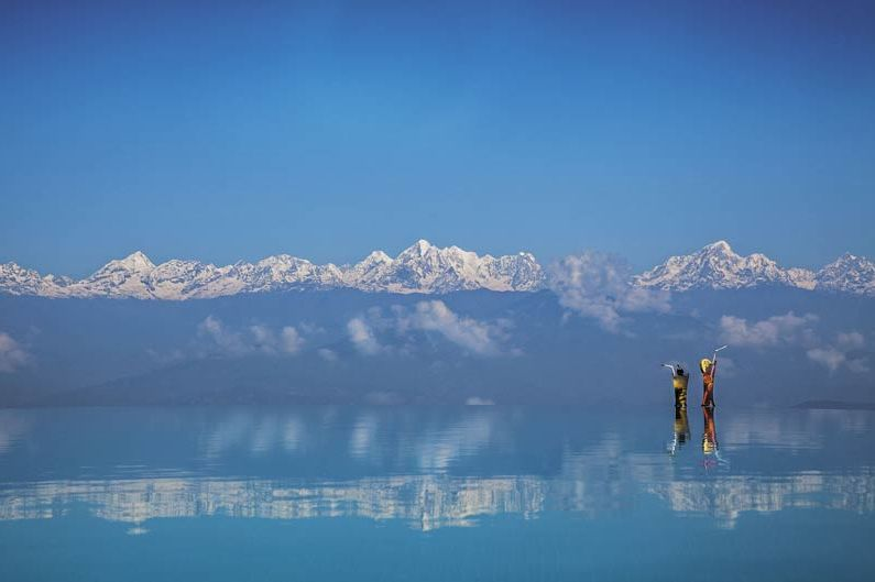 infinity zwembad Dwarika's Dhulikhel - Dwarika's Dhulikhel - Nepal - foto: Dwarika's