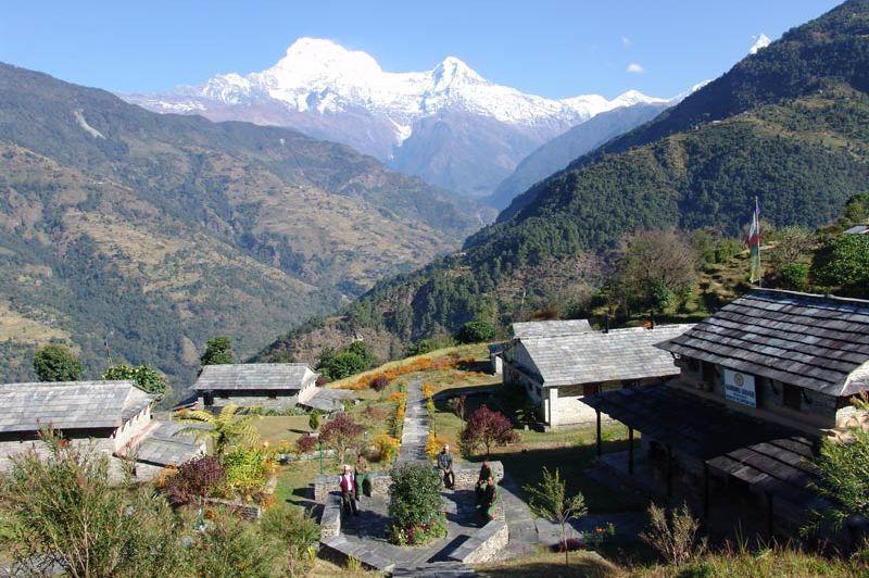 uitzicht en verblijven Gurung Lodge Ker & Downey - Gurung Lodge Ker & DowneyGurung Lodge Ker & Downey - Nepal - foto: Gurung Lodge Ker & Downey