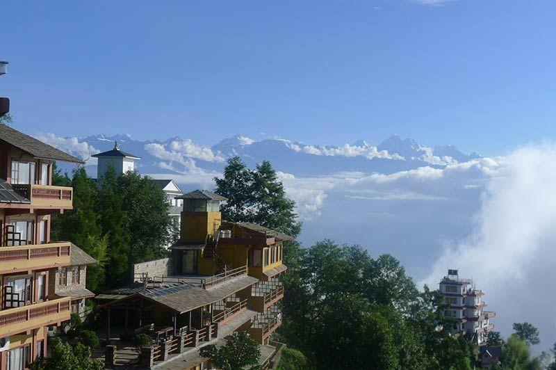 Country Villa met uitzicht op de bergen in Nagarkot - Country Villa - Nepal - foto: Country Villa