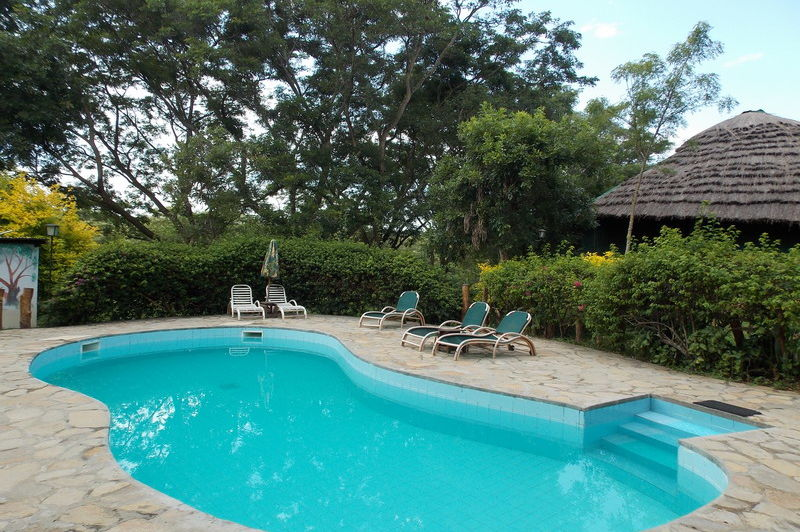 zwembad - sambiya river lodge - Oeganda