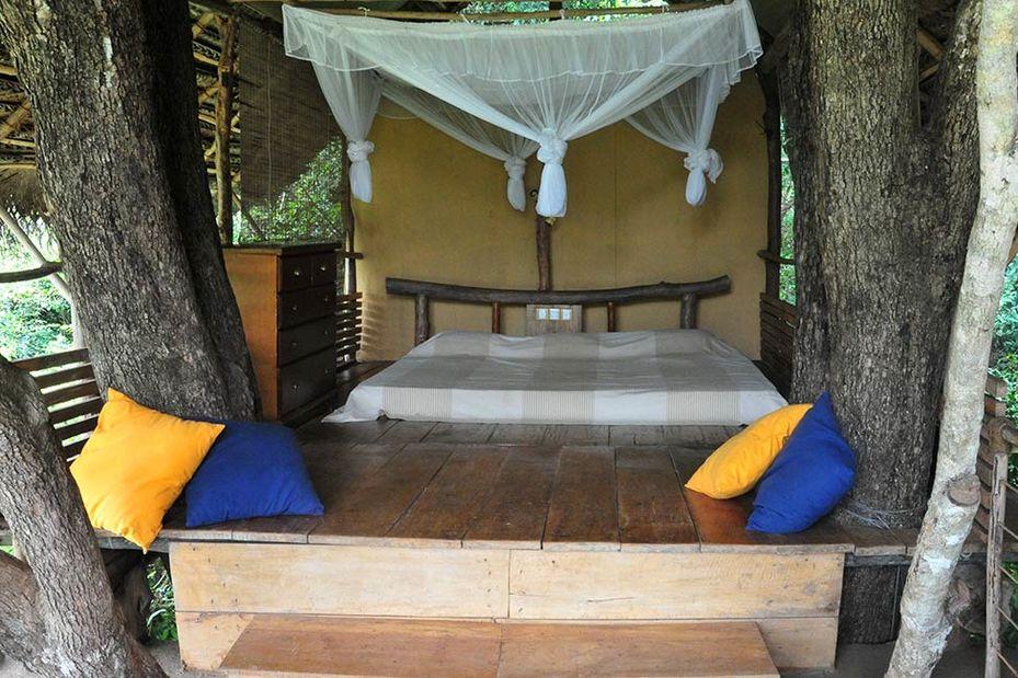 slaapkamer Back of Beyond Dehigaha Ela Sigiriya - Sri Lanka - foto: Back of Beyond Dehigaha Ela