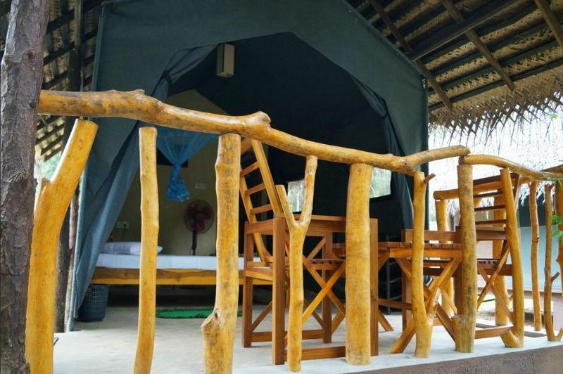 tent in de Athgira River Camping - Athgira River Camping - Sri Lanka - foto: Internet