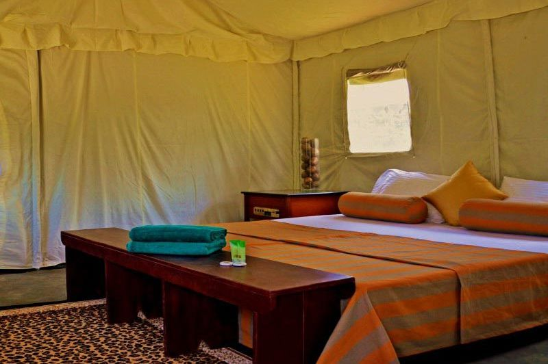 binnenkant tent in Wild Trails Udawalawe - Wild Trails Udawalawe - Sri Lanka - foto: Website