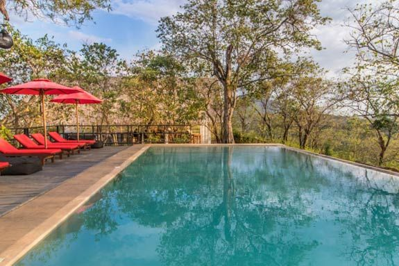 zwembad van Dambale Boutique Chalets in Dambulla - Dambale Boutique Chalets - Sri Lanka - foto: Dambale Boutique Chalets