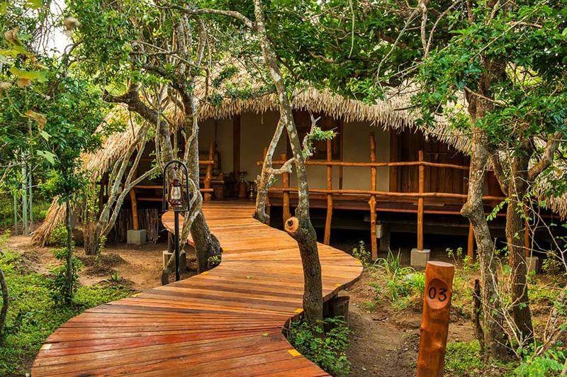 hut van Chena Huts in Yala - Chena Huts - Sri Lanka - foto: Chena Huts