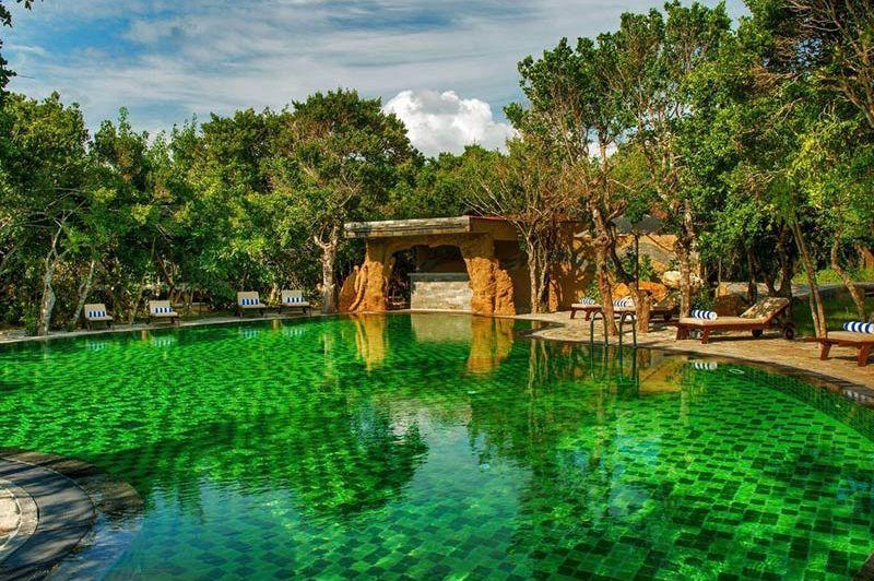 zwembad  van Chena Huts in Yala - Chena Huts - Sri Lanka - foto: Chena Huts