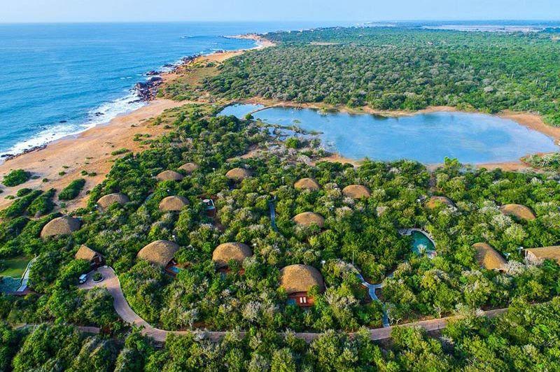 uitzicht over Chena Huts in Yala - Chena Huts - Sri Lanka - foto: Chena Huts