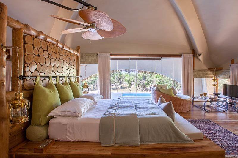 slaapkamer over Chena Huts in Yala - Chena Huts - Sri Lanka - foto: Chena Huts