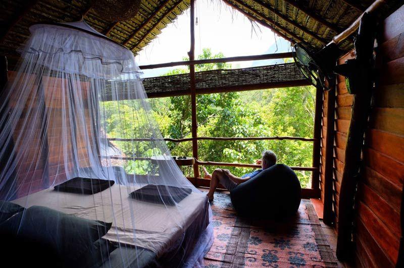 slaapkamer van Borderlands in Kitulgala - Borderlands - Sri Lanka - foto: Borderlands