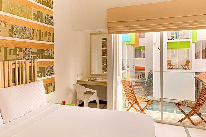 slaapkamer van Hotel J in Unawatuna - Hotel J - Sri Lanka - foto: Hotel J