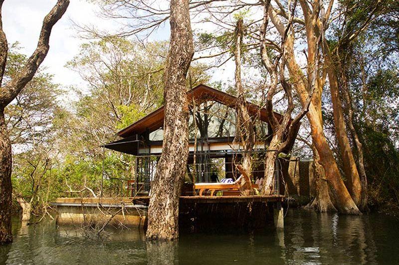 vooraanzicht van Kalundewa Retreat in Dambulla - Kalundewa Retreat - Sri Lanka - foto: Kalundewa Retreat