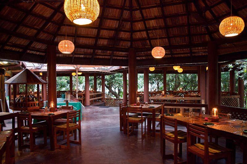 restaurant van Palm Paradise Cabanas in Tangalle - Palm Paradise - Sri Lanka - foto: Palm Paradise