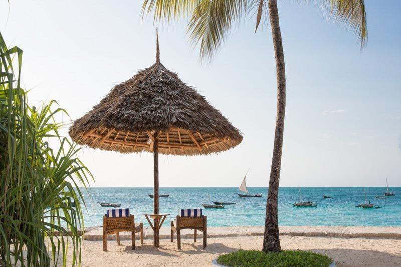 Parasol Double Tree Resort by Hilton Zanzibar - Double Tree Resort by Hilton Zanzibar - Tanzania - foto: Martijn Visscher