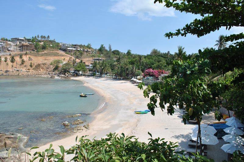 Six Senses uitzicht op strand - Thailand - foto: Marloes Wijnhoff