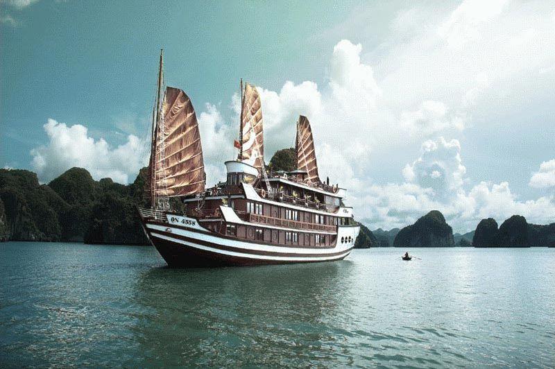 boot - Bhaya Classic Boat - Halong Bay - Vietnam