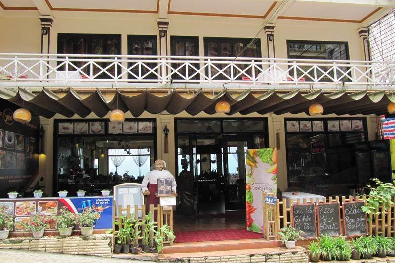 Voorgevel van het Sapa Boutique Hotel - Sapa Boutique Hotel - Vietnam - foto: Mieke Arendsen