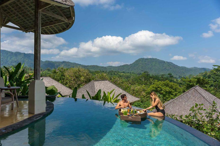 zwembad - Wapa di Ume - Sidemen - Bali - Indonesië - foto: Wapa di Ume Sidemen