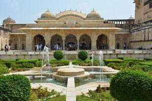 Amber Fort - Jaipur - Binnentuin - India - foto: pixabay