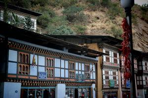 Straatbeeld Trashigang - Bhutan