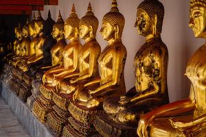 Boeddhabeelden in Wat Pho - Thailand