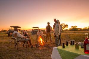Kwando Lebala Camp - kampvuur - Linyanti - Botswana