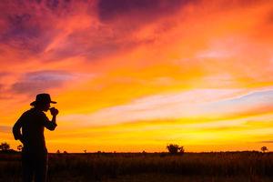 Kwando Lebala Camp - zonsopgang - Linyanti - Botswana