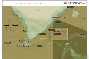 Linyanti Consession - kaart - Botswana - foto: Safari Destinations