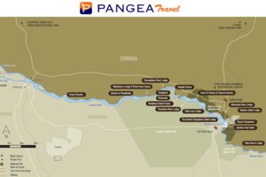 Livingstone - kaart - Zambia