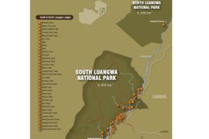 South Luangwa National Park - kaart - Zambia