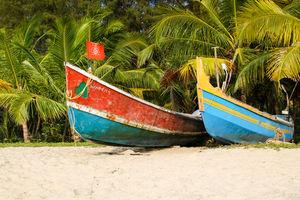 Mararikulam - Strand - Vissersboot - India - foto: flickr