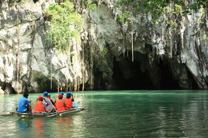 bootje in Puerto Princesa Subterranean River National Park - Sabang - Palawan - Filipijnen -Intas - CTTO