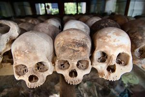 Schedels - Killing fields-Phnom Penh - Cambodja
