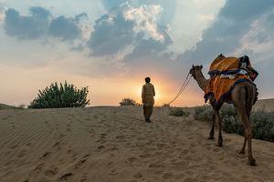 Thar Desert - Sam Sand Dunes - Zonsondergang - India - foto: flickr