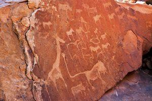 Twyfelfontein - rotstekeningen - Namibie - foto: Twyfelfontein Country Lodge