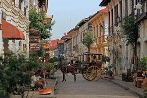 straatbeeld Vigan paard en wagen - Filipijnen - Intas - CTTO