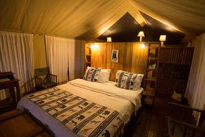 Vuma Hills - tent interieur - Mikumi National Park -Tanzania