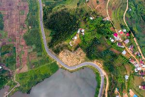 Wegen landschap - Lake Kivu - Rwanda - foto: Visit Rwanda