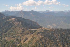 Bhutan landschap vallei