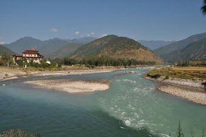 Punakha Dzong water - Punakha - Bhutan