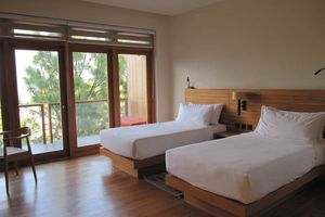 kamer van het Dhensa Boutique hotel - Dhensa Boutique - Bhutan - foto: Mieke Arendsen