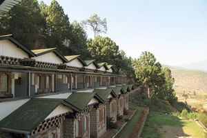 vooraanzicht Hotel Vara (2) - Hotel Vara - Bhutan - foto: Mieke Arendsen