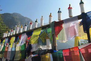 gebedsvlaggen in Taksang