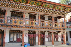 lokaal huis in Bhutan - Bhutan